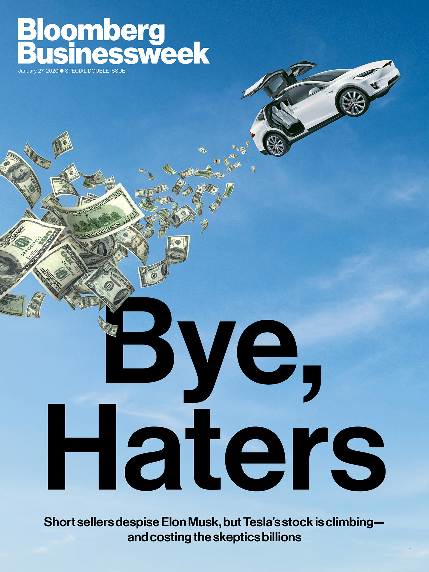 Bloomberg Business Week Tesla - Elon Musk - Bye, haters