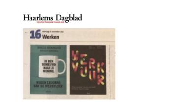 Boekrecensie: Haarlems Dagblad over het nieuwe boek Werkvuur