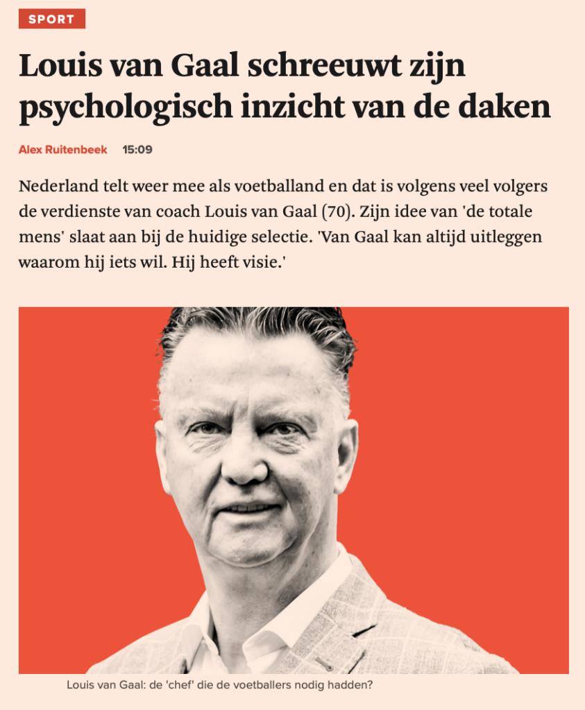 Louis van Gaal als peoplemanager