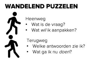 Wandelend puzzelen - wandelen tijdens je werk